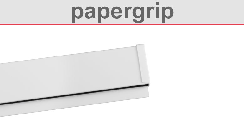 papergrip paperrail klemmschiene