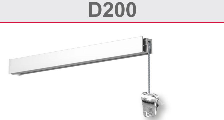 Deckenschiene D200
