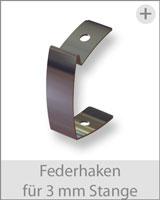 federhaken für stange 3mm