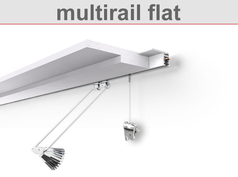 Deckenschiene multirail flat
