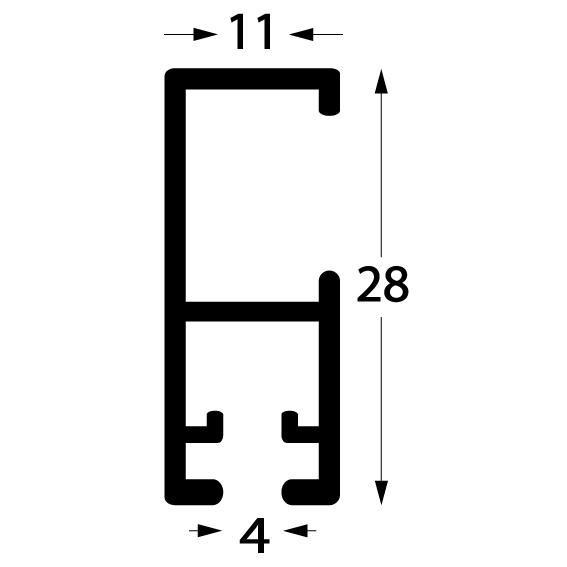 Profil cliprail pro