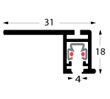 Profil multirail flat